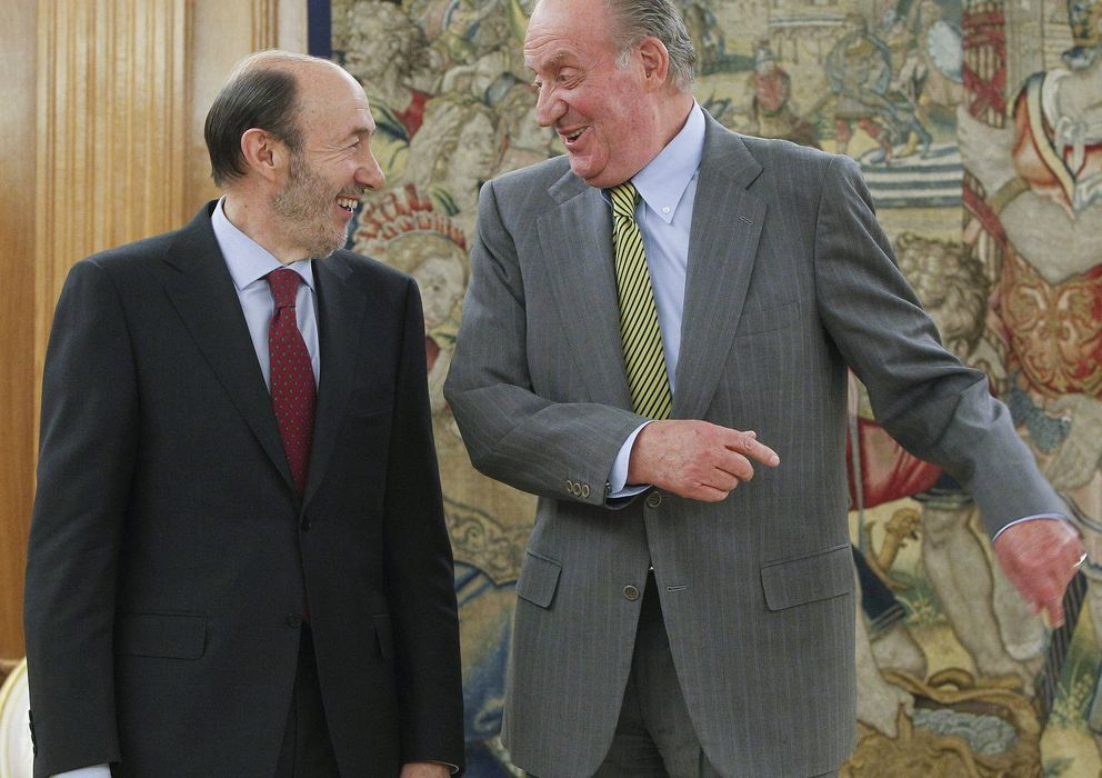 Foto: Rubalcaba y el Rey en una foto de archivo. (EFE)
