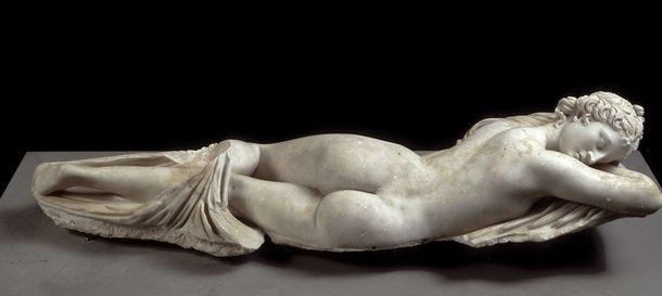 Foto: Hermafrodita dormido, escultura romana del siglo I a.C.