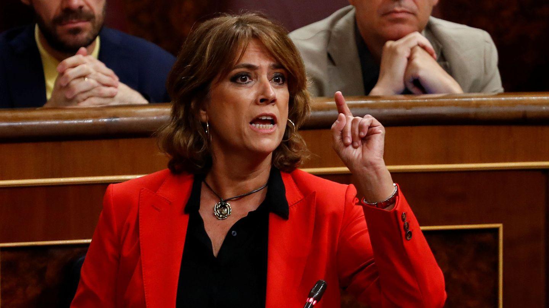 La ministra de Justicia, en el Congreso. (EFE)