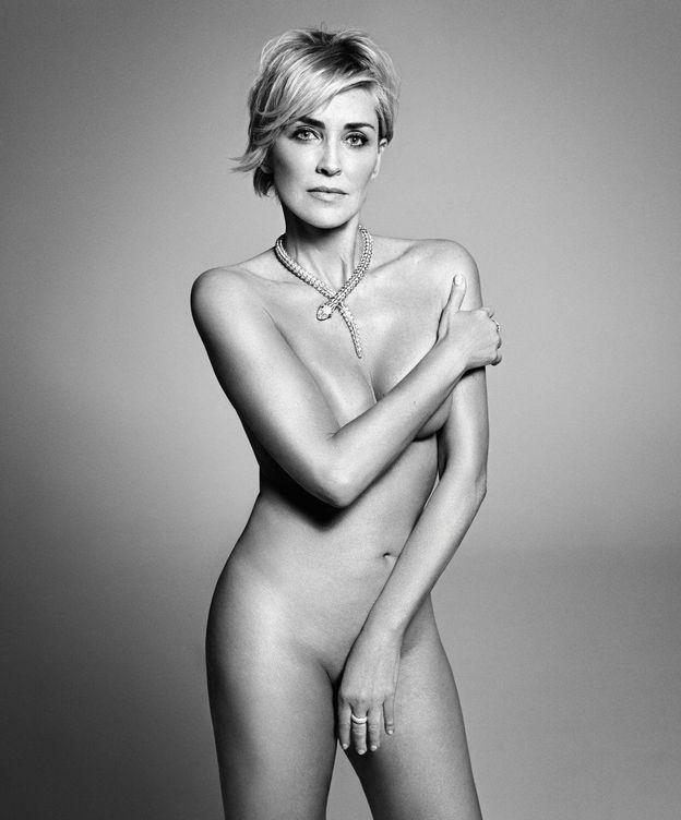 Foto: Sharon Stone fotografiada desnuda por Mark Abrahams para la edición americana de Harper's Bazaar (Mark Abrahams)