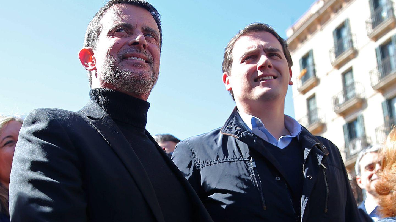 Valls junto a Albert Rivera. (Gtres)