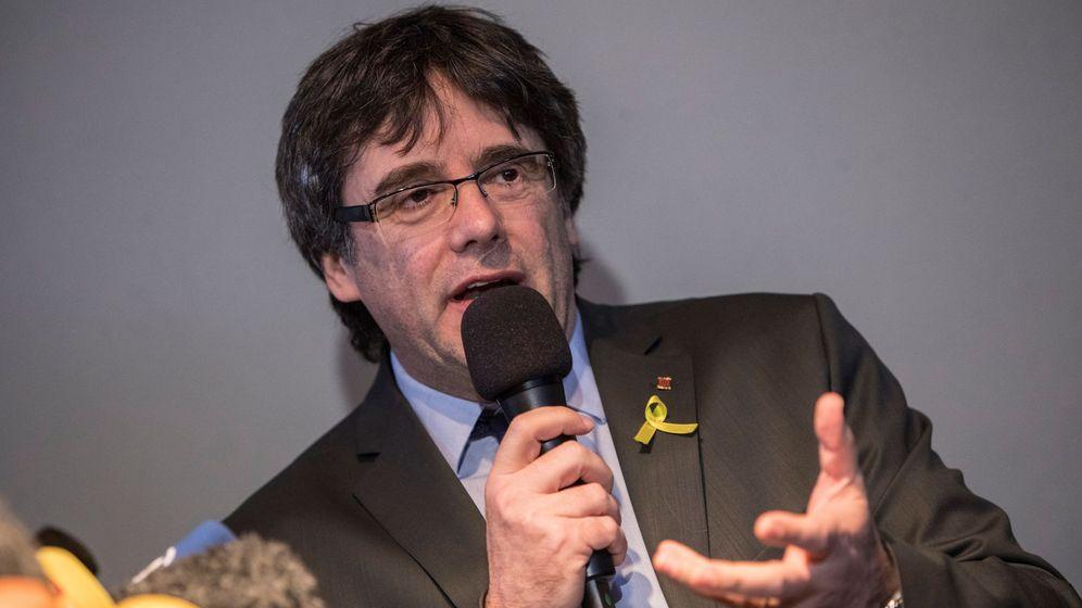 Foto: Carles Puigdemont, durante una rueda de prensa en Berlín. (EFE)