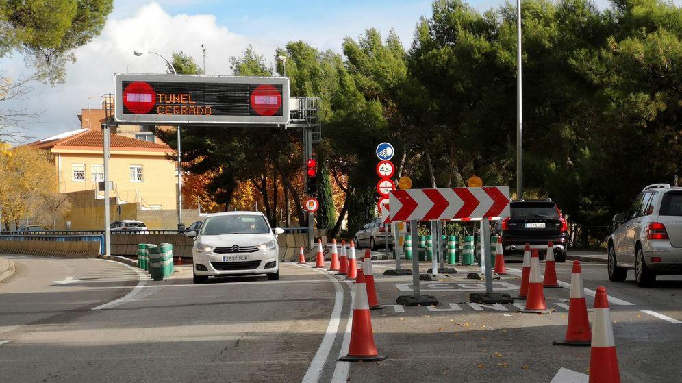 Foto: Cierre del túnel que conecta Sinesio Delgado con Pío XII y la M-30, el pasado mes de noviembre. (EFE)