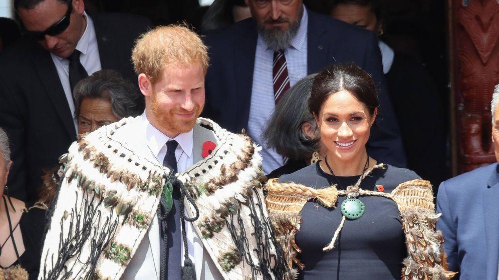 Foto:  Lo duques de Sussex, en su visita a Nueva Zelanda. (Getty)