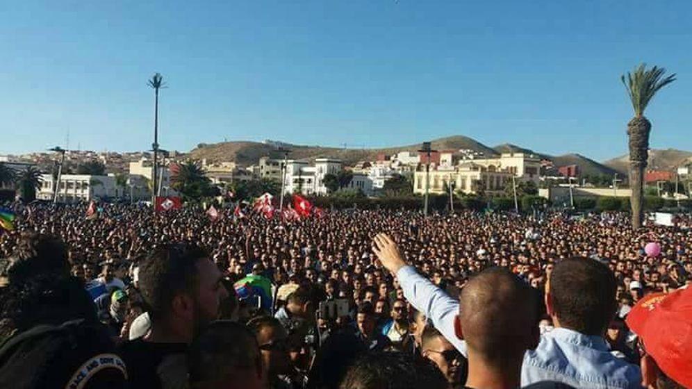 Foto: Imagen de la protesta en Alhucemas, el 18 de mayo de 2017.