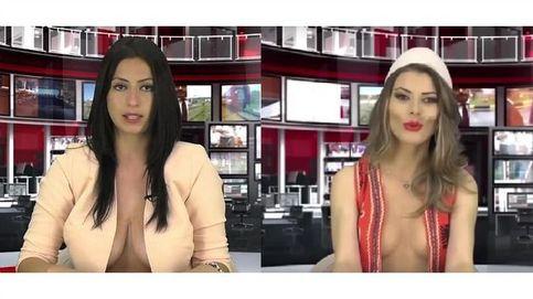 Presentadoras semidesnudas: la televisión albanesa hace negocio con escotes