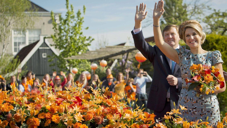 Guillermo y Máxima de Holanda celebrando el Día del Rey de 2014. (Reuters)