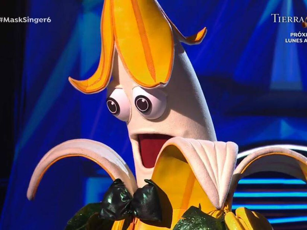 Foto: 'Plátano', en 'Mask Singer'. (Atresmedia Televisión)