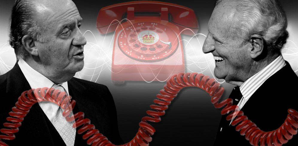 Foto: El Rey Don Juan Carlos y Josep Cusí en un fotomontaje realizado en Vanitatis.