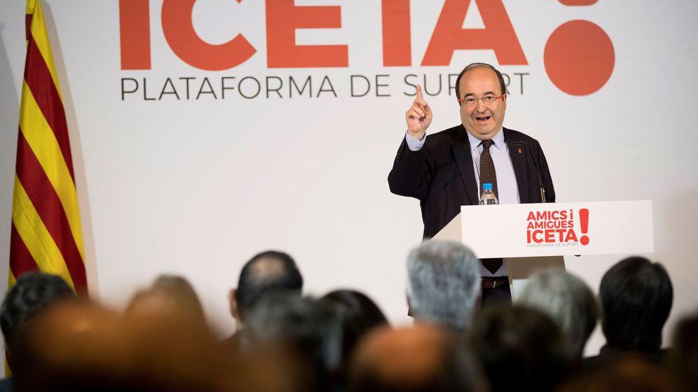 Foto: El líder y candidato del PSC, Miquel Iceta, el pasado domingo en un acto de precampaña del 21-D en Barcelona. (EFE)