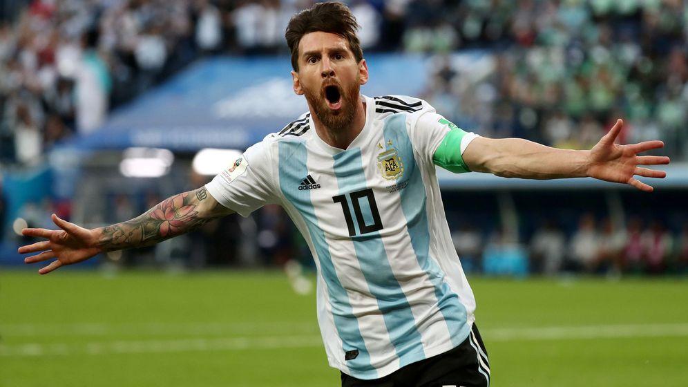 Foto: Leo Messi marcó su primer gol del Mundia, el 0-1 en la victoria de Argentina contra Nigeria. (Reuters)