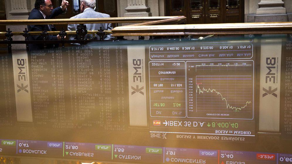 Foto: Vista de un panel de la Bolsa de Madrid (EFE)