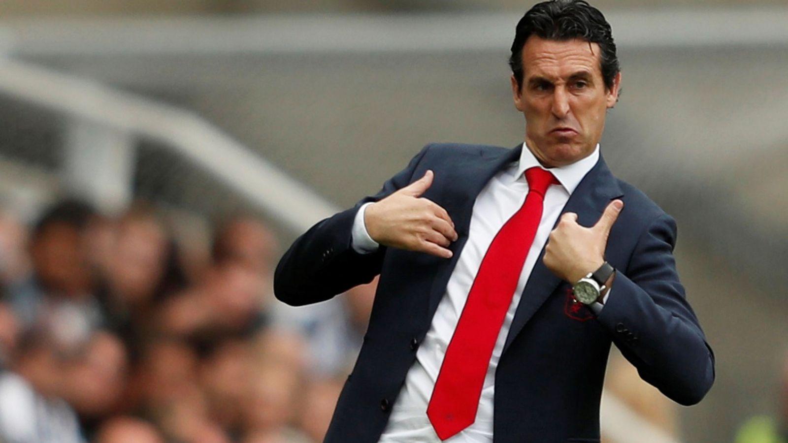 Foto: Unai Emery, durante un partido de la Premier con el Arsenal. (Reuters)