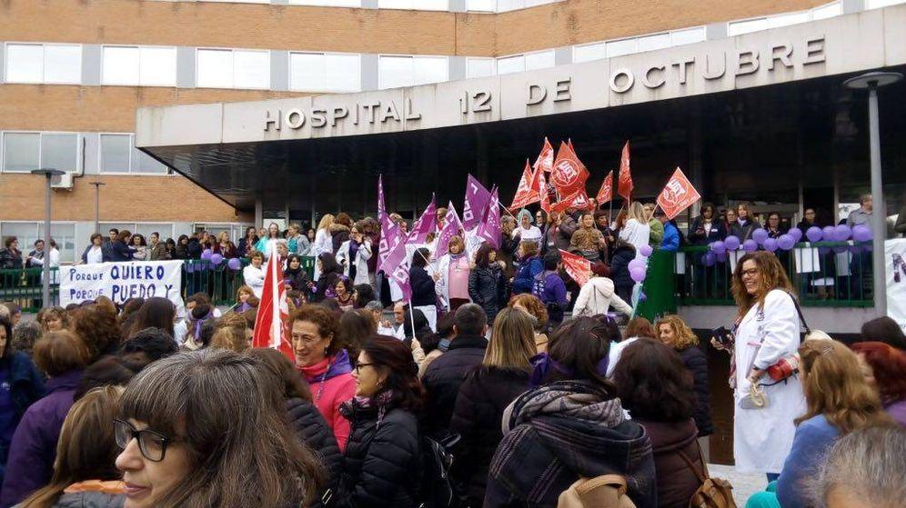 Foto: Paro de dos horas en el Hospital 12 de octubre (A. V.)