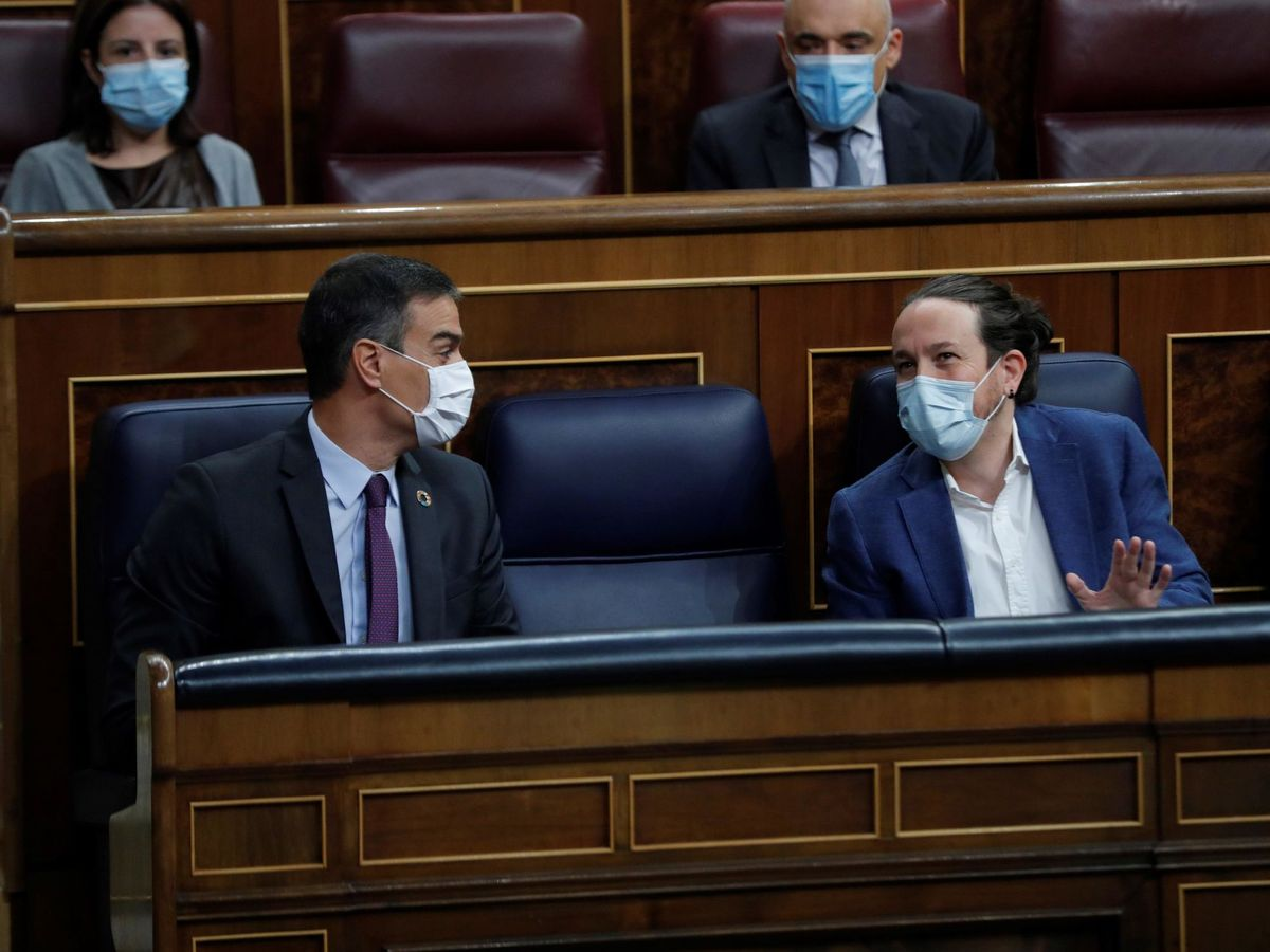 Foto: El presidente del Gobierno, Pedro Sánchez, y el vicepresidente segundo, Pablo Iglesias. (EFE)