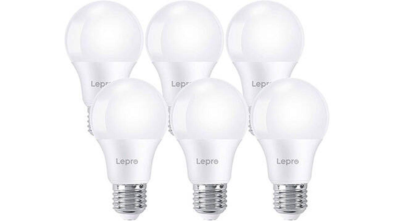 Paquete de 6 bombillas LED E27 luz blanca fría 6500K