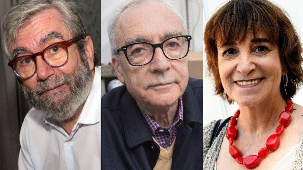 Foto: Antonio Muñoz Molina, Juan José Millás y Rosa Montero estarán firmando libros este fin de semana en al FLM. (El Confidencial)