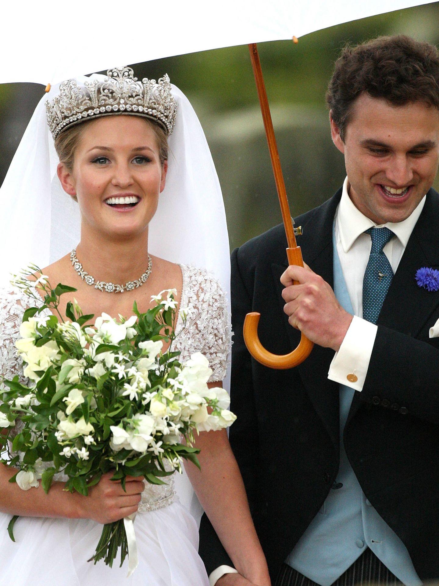 La boda de Melissa Percy y Thomas Van Straubenzee en 2013. (Getty)