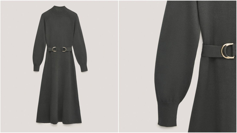 Vestido de corte evasé de Massimo Dutti. (Cortesía)