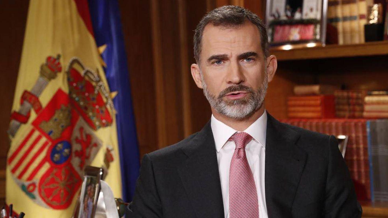El rey Felipe durante el discurso. (Casa Real)