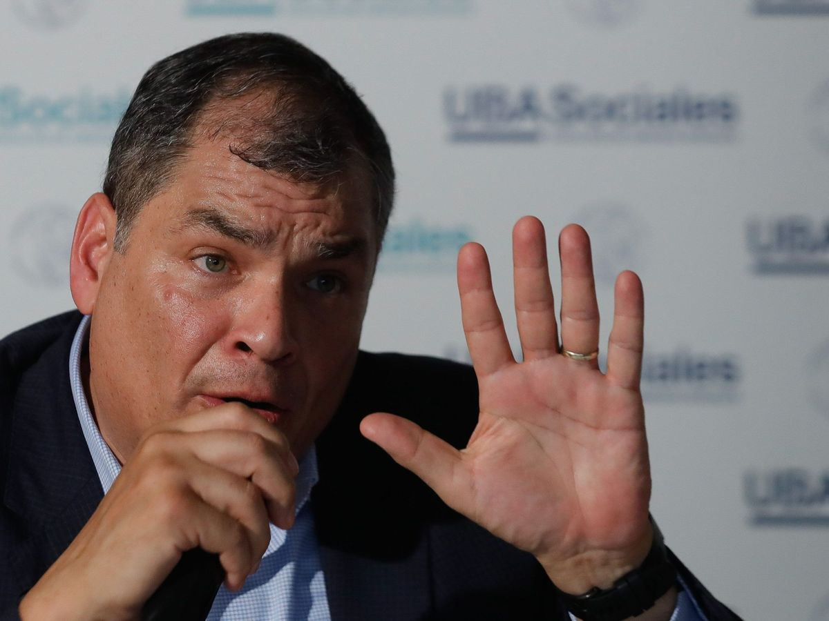 Foto: El expresidente ecuatoriano Rafael Correa, en una imagen de 2019. (EFE)