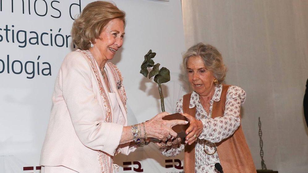 Foto: La reina Sofía, en su acto de este martes. (EFE)