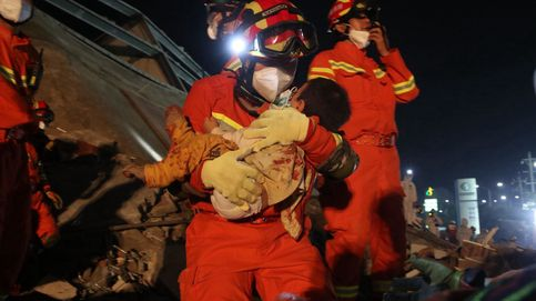 Hasta 18 muertos tras el derrumbe del hotel para los afectados del Covid-19 en China