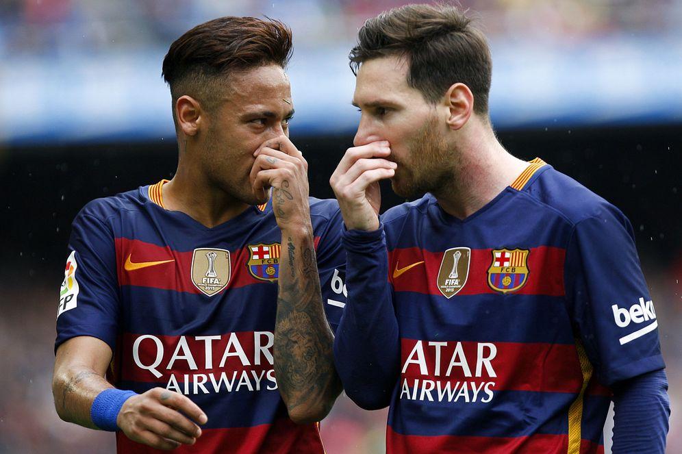 Foto: Neymar y Messi, durante un partido con el Barça (EFE)