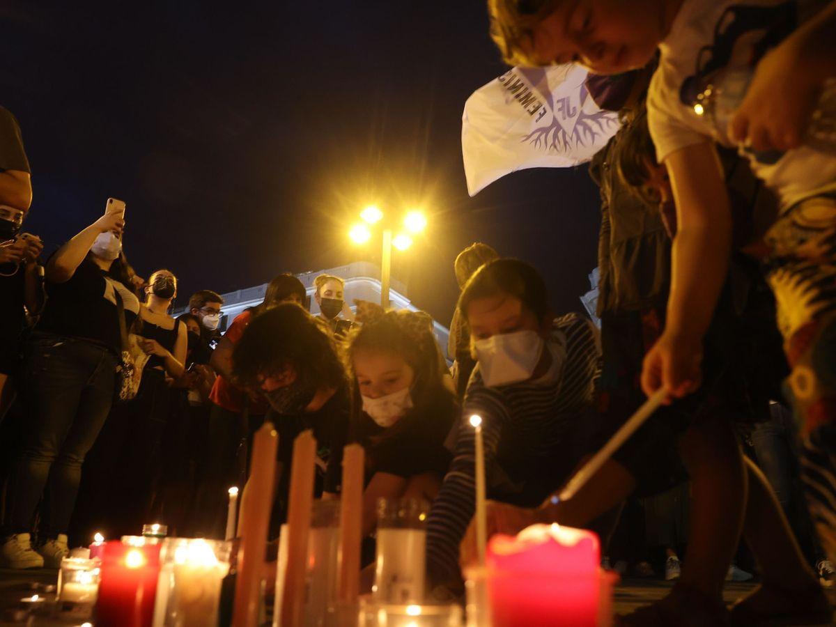 Foto: Concentración contra violencia machista en Madrid. (EFE)