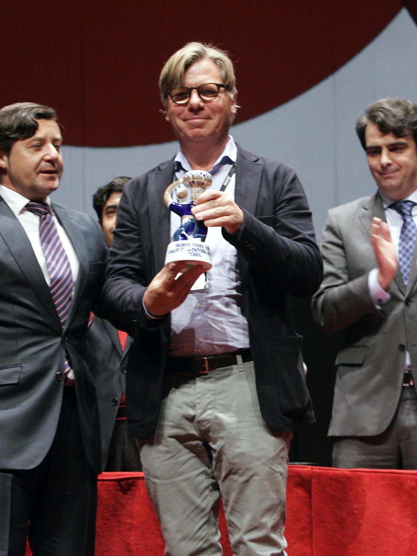 Peter Sisseck, recogiendo un premio. (EFE)