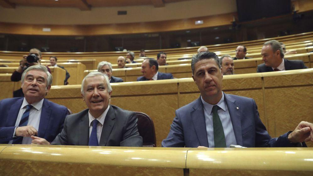 Foto: Xavier García Albiol sentado en su escaño del Senado el pasado mes de octubre. (Efe)