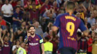 Griezmann y Cristiano tienen que esforzarse para arrimar la silla a la mesa de Messi