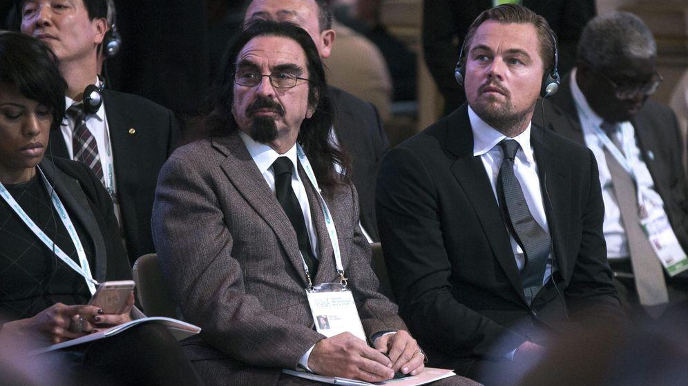Foto: Leonardo y su padre en 2015. (EFE)
