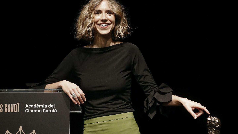La actriz Aina Clotet, durante el acto en el que se anunciaron las nominaciones a los Premios Gaudí. (EFE)