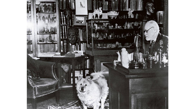 Foto: Sigmund Freud en su despacho de Viena, en 1925. (Getty Images)