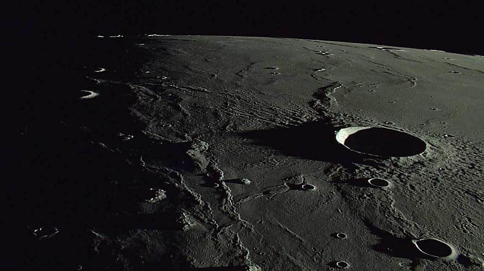 Foto: El cráter lunar Marius. (NASA)