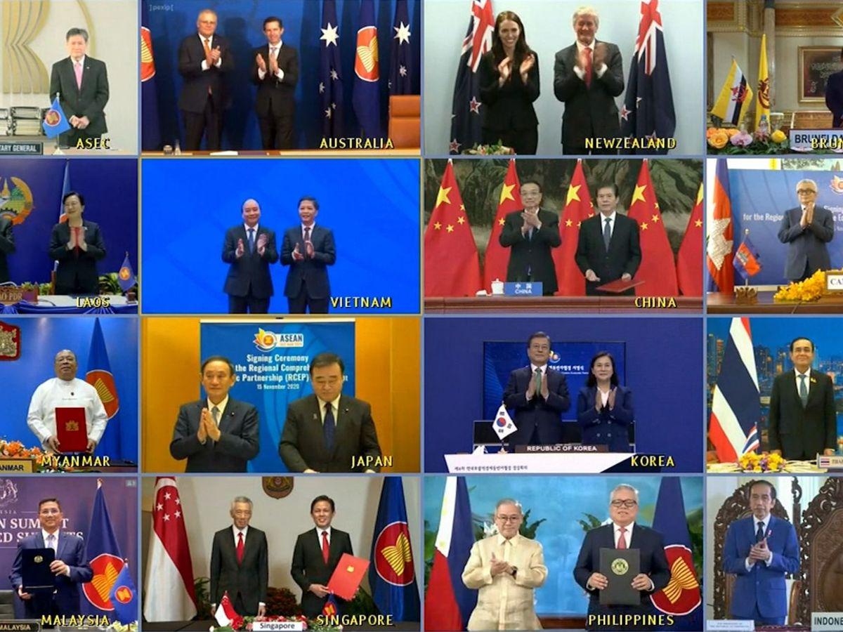 Foto: Foto de grupo con los líderes políticos de los 15 países firmantes. (EFE)
