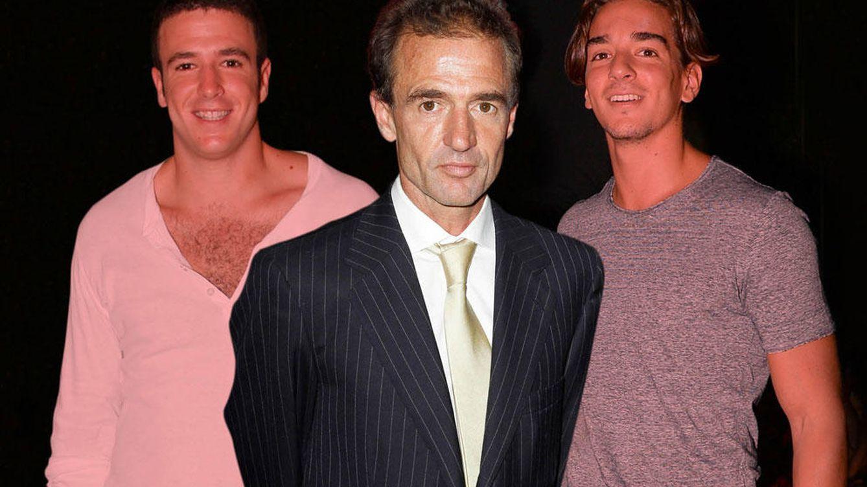 Foto: Alessandro Lecquio y sus dos hijos: Clemente y Alessandro (Vanitatis)