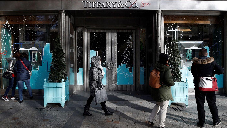 La fachada de Tiffany & Co en París. (EFE)
