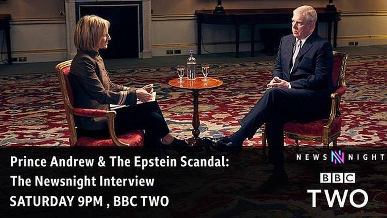 Promoción de la entrevista del príncipe Andrés en la BBC. (BBC Two)