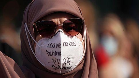 Manifestación en Berlín en apoyo a los refugiados en Grecia
