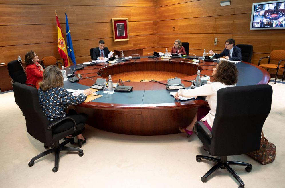 Foto: Pedro Sánchez preside el Consejo de Ministros de este 12 de mayo en la Moncloa. (Borja Puig | Moncloa)