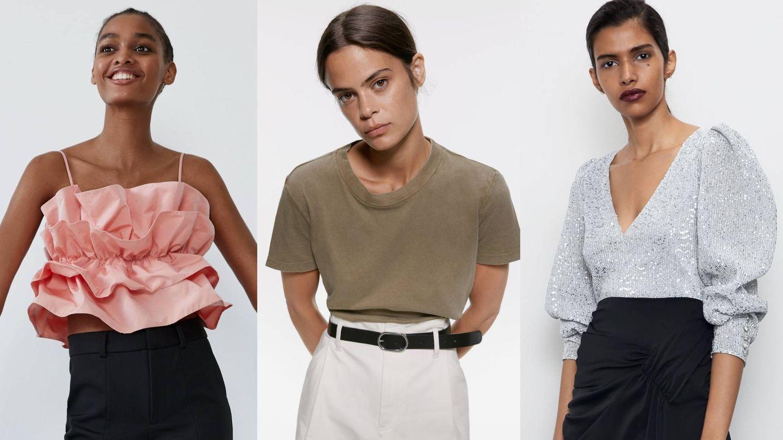 Tres opciones para combinar tu nueva falda. (Cortesía)