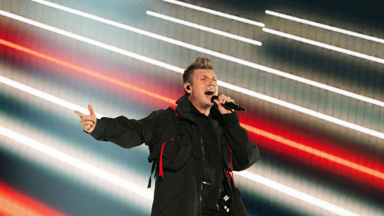 Foto: Nick Carter, durante un concierto de los Backstreet Boys de este pasado verano (EFE/Balazs Mohai)