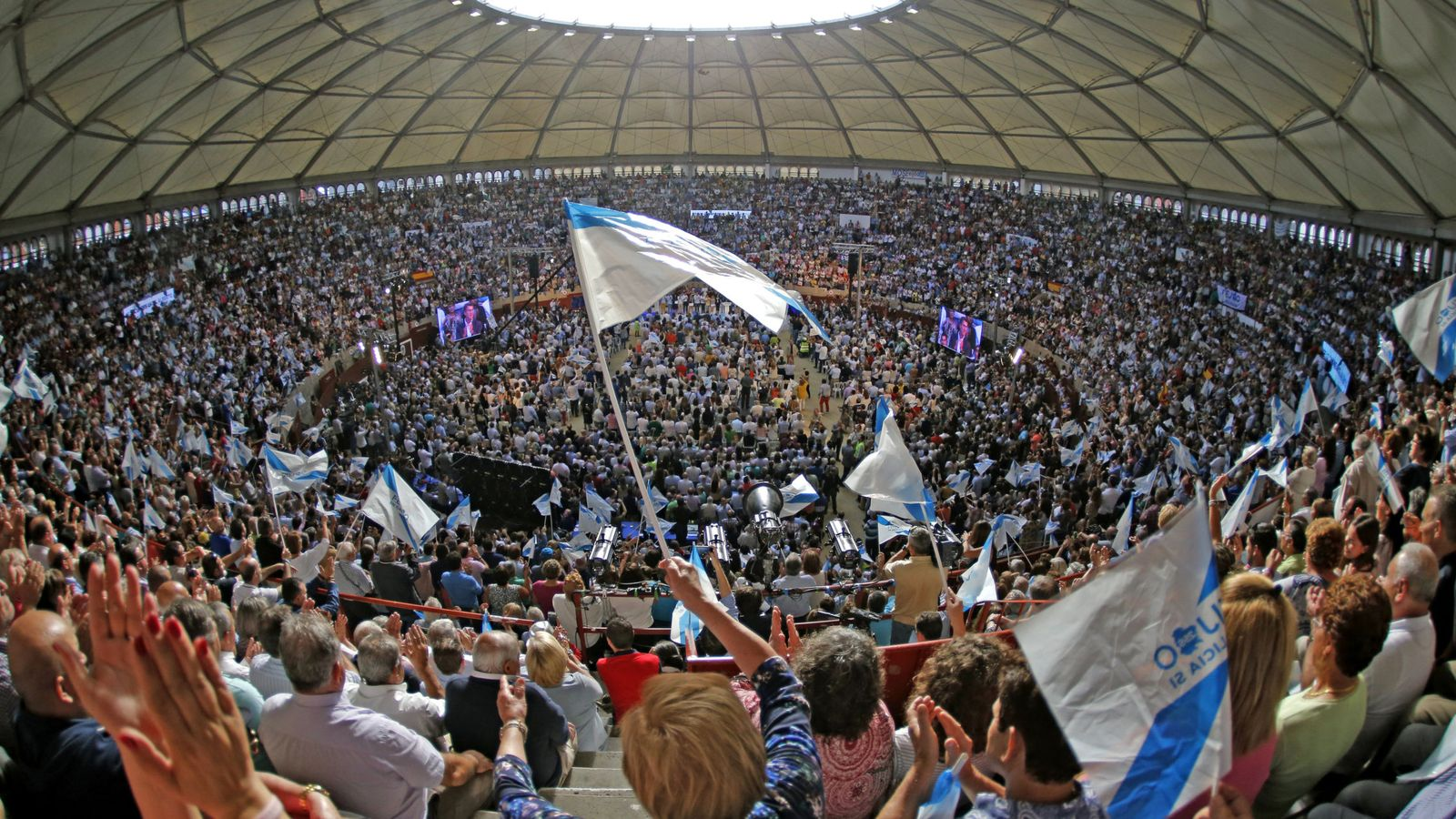 Foto: Acto del PP de Galicia en Pontevedra. (EFE)