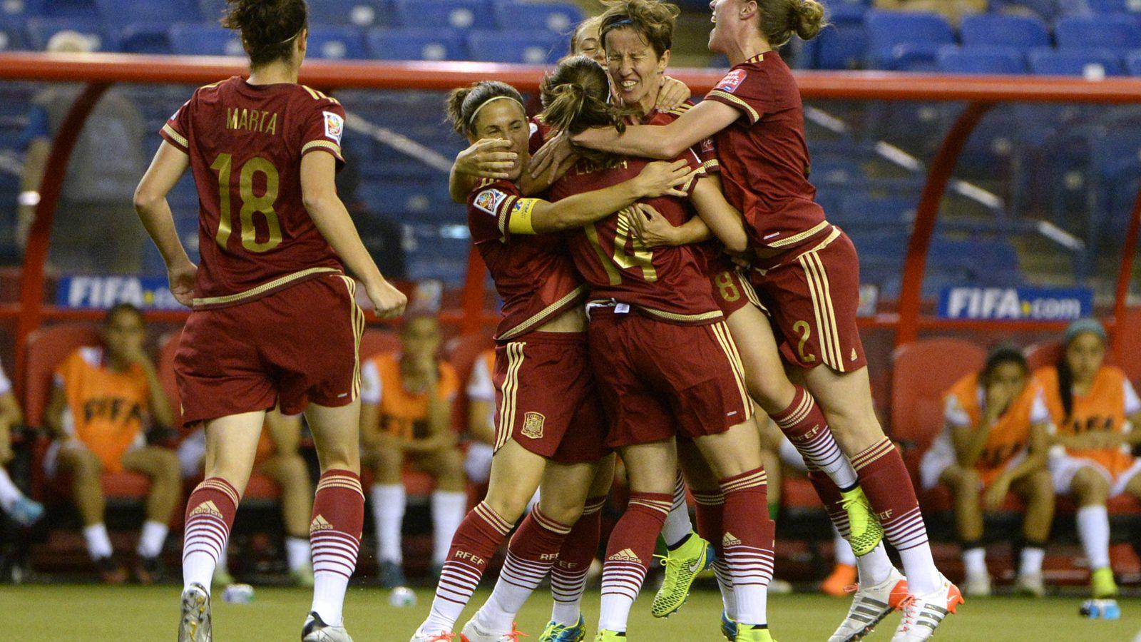 Foto: La selección española celebra su gol ante Costa Rica (Reuters).