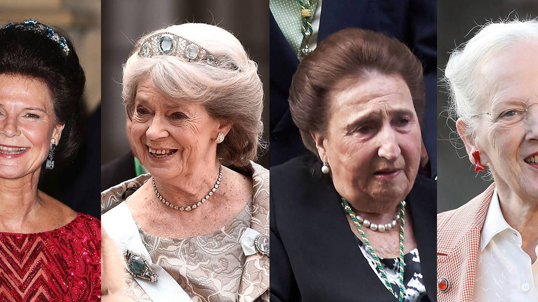 Margaret de Reino Unido, Margaretha de Liechtenstein, Margaretha de Suecia, la infanta Margarita, Margrethe II y Margriet de Holanda.