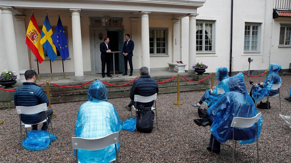 Foto: Pedro Sánchez se reúne con el primer ministro sueco, Stefan Löfven. (EFE)