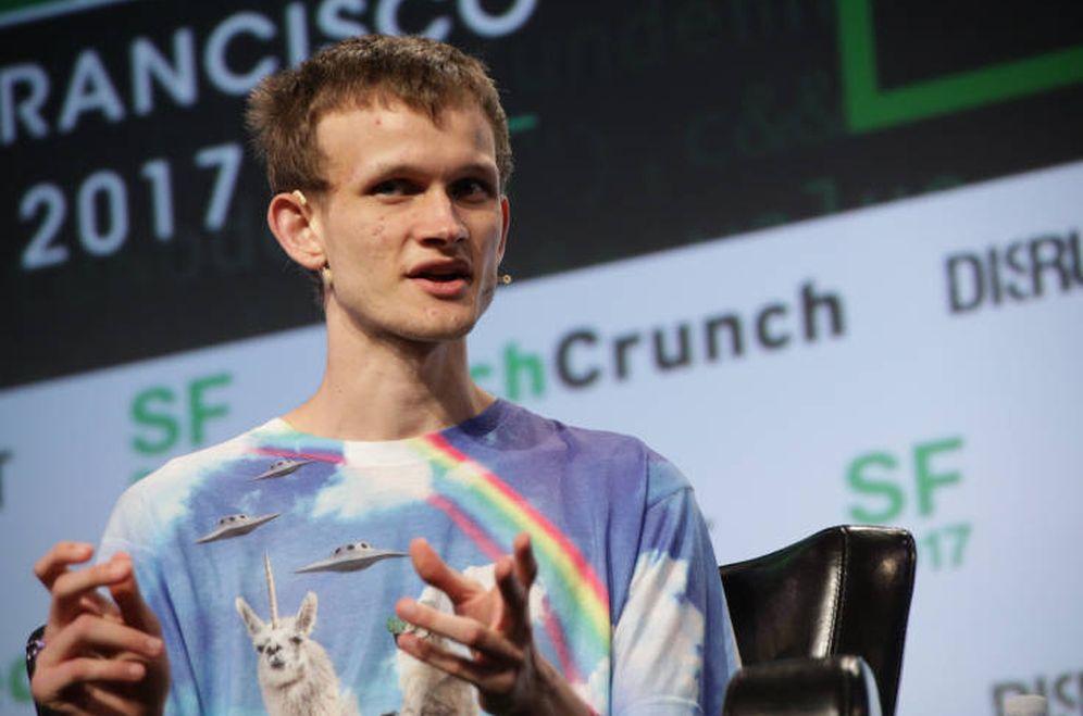 Foto: Vitalik Buterin, durante un evento de Techcrunch (Techcrunch)