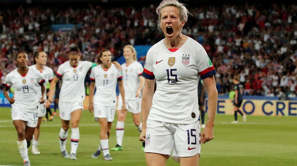 Foto: Megan Rapinoe marcó los dos goles de Estados Unidos en la victoria ante Francia. (Reuters)